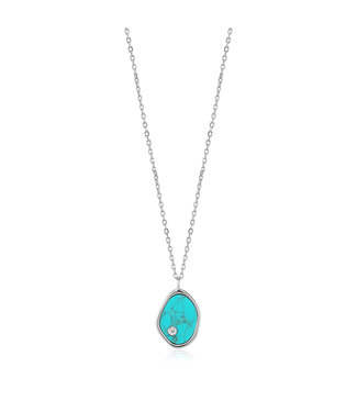 Ania Haie Turning Tides - Tidal Turquoise necklace silver N027-01H