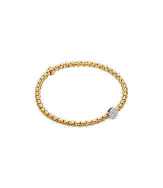 Fope armband geelgoud Eka Tiny 736B PAVEM