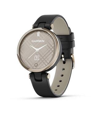 Garmin Lily, Creamgold, Black, Leather 010-02384-B1