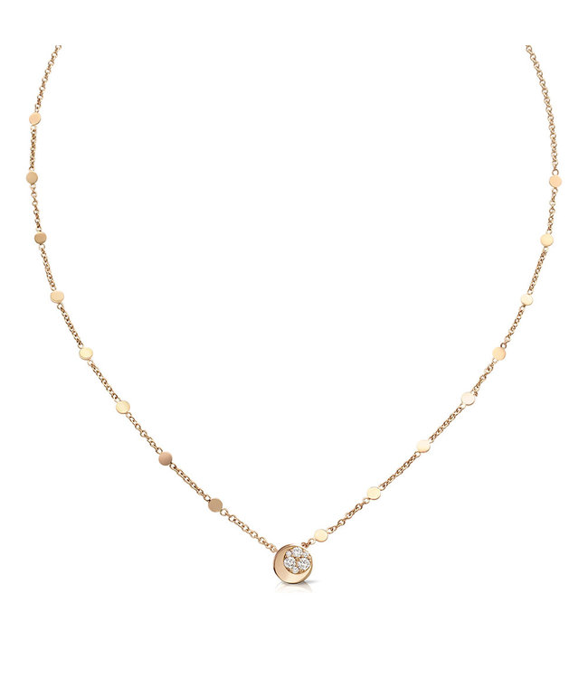 Pasquale Bruni ketting roosgoud Luce 16200R