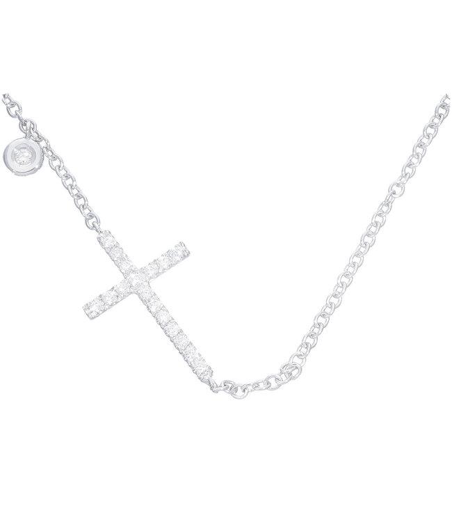 Willems Creations ketting 18kt Cross Diamonds 166714