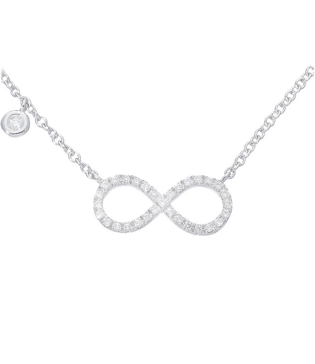 Willems Creations ketting witgoud 18kt Infinity 171664
