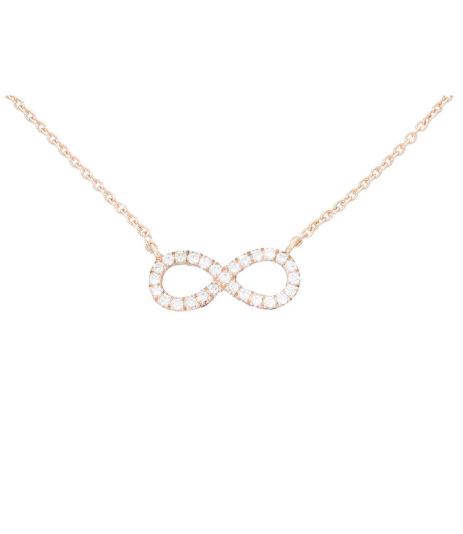 Willems Creations ketting roosgoud 18kt Infinity 228422
