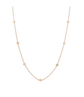 Willems Creations ketting roosgoud 18kt Diamonds 226300