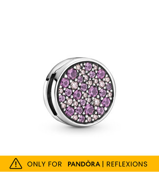 Pandora Reflexions, Pink Pavé fixed clips Limited Edition 799362C01