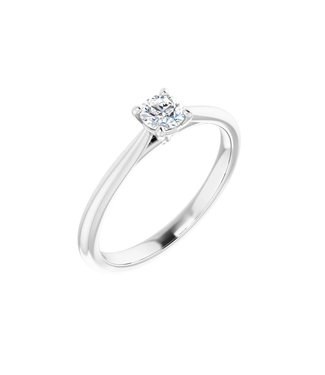 Willems Creations Guillaume Solitaire Ring Witgoud 0.25ct - 124171-W-41