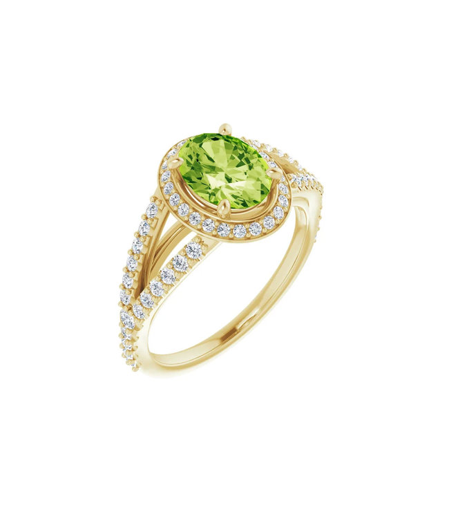 Willems Creations Pink Lady Entourage ring Peridot 122986-G-86-PER