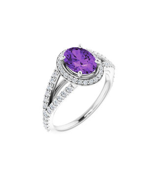 Willems Creations Pink Lady Entourage ring Amethist 122986-W-86-AME