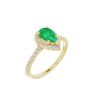 Willems Creations Durondeau Entourage ring Smaragd 123359-G-85-EME