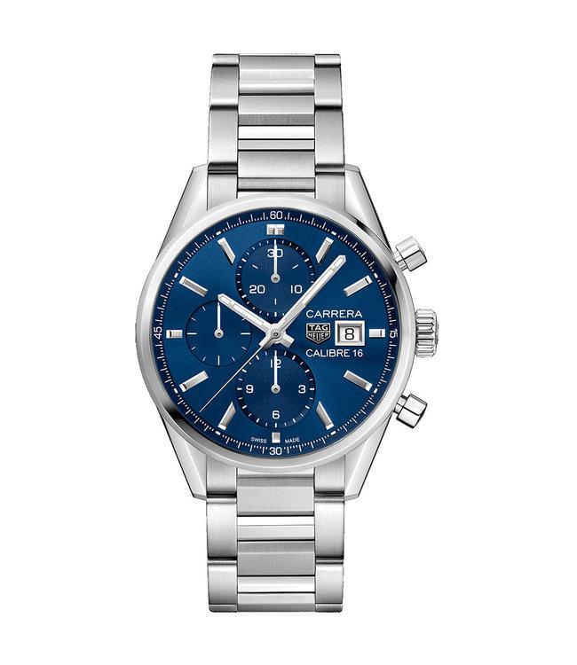 Tag Heuer Carrera Calibre 16 Automatic Chronograph  heren horloge CBK2112.BA0715