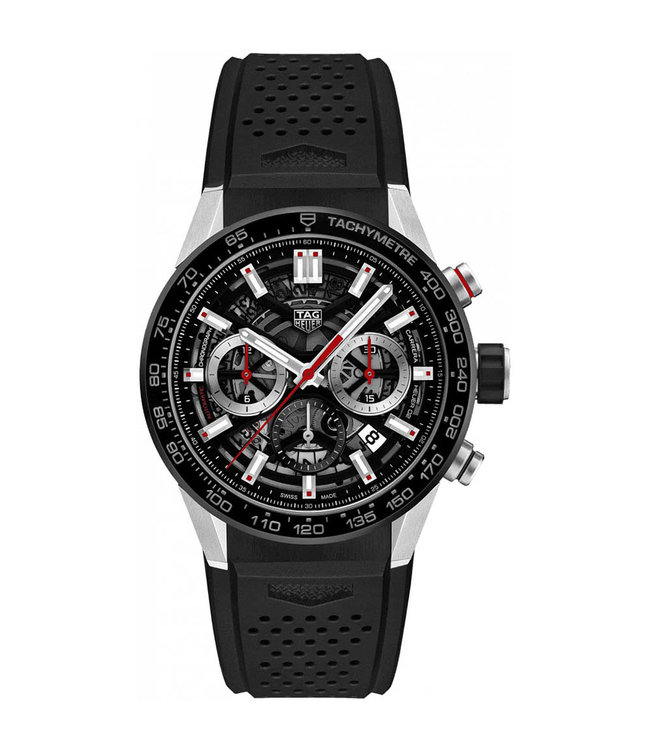Tag Heuer Carrera Tourbillon Black Skeleton Automatic heren horloge CBG2010.FT6143