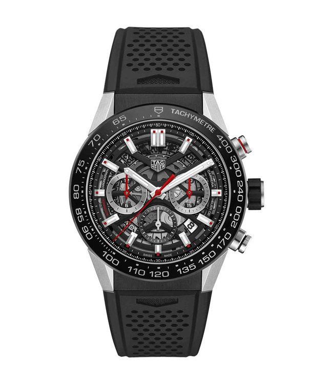 Tag Heuer Carrera Calibre 2 Black Skeleton Automatic Chronograph CBG2A10.FT6168