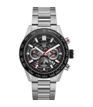 Tag Heuer Carrera Calibre 02 Black Skeleton Automatic Chronograph CBG2A10.BA0654