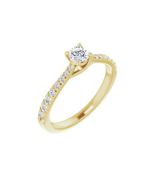 Willems Creations Lucy Solitaire Ring 0.25ct - 123230-Y-25