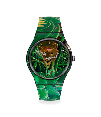Swatch MoMA, The Dream bij Henri Rousseau, the Watch Limited Edition SUOZ333