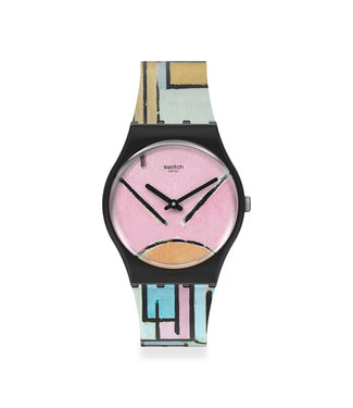 Swatch MoMA, Composition in Oval with Color Planes Limited Edition GZ350