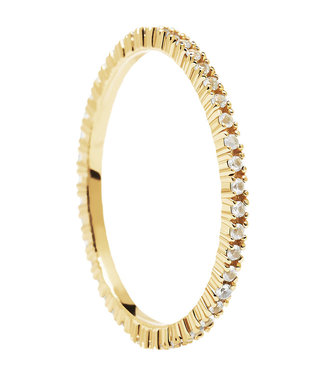 PDPaola Essentials - White Essential ring gold - AN01-347