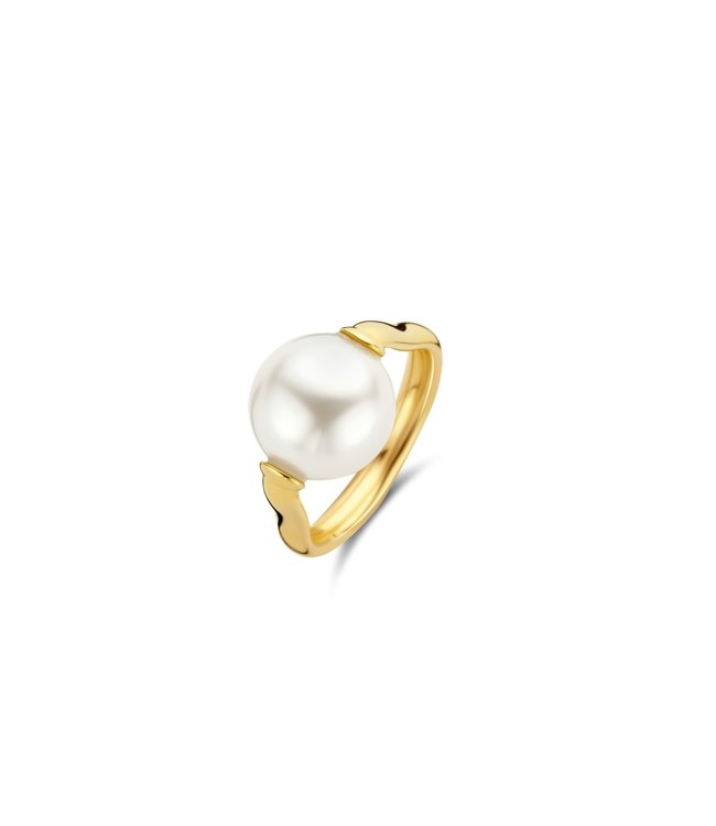 Ti Sento ring verguld parel 12231PW