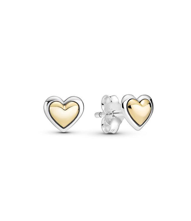 Pandora Domed Golden Heart 299389C00