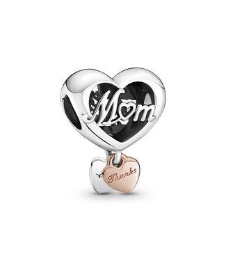 Pandora Thank You Mum Heart rose 789372C00