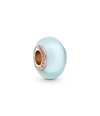 Pandora Matte Blue Murano Glass, frosted blue 789420C00