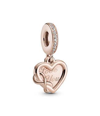 Pandora Love You Infinity Heart rose dangle 789369C01