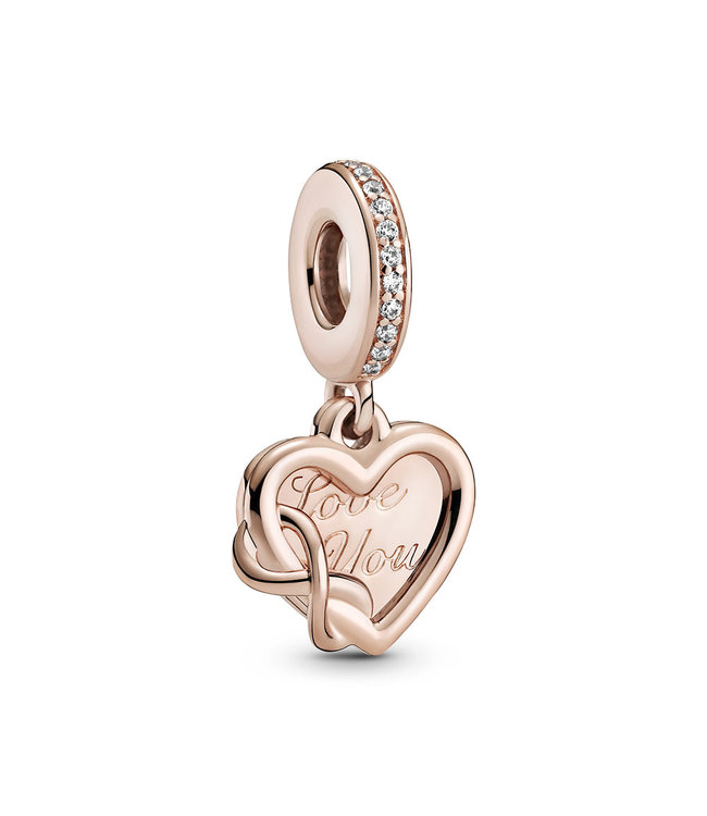 Pandora Love You Infinity Heart rose dangle 789369C01