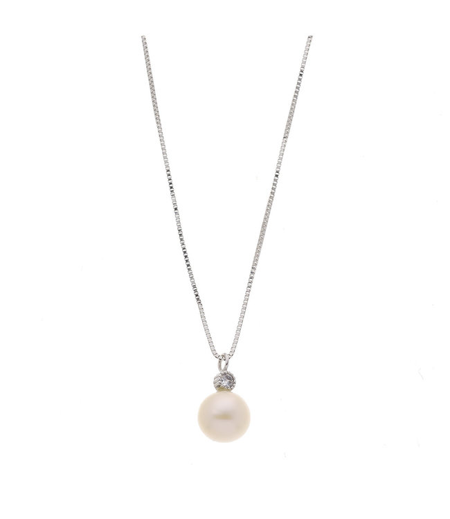 Willems Creations ketting met parel 18kt witgoud 764898