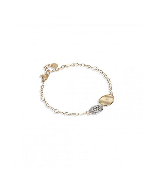 Marco Bicego armband Lunaria Diamonds BB2591-B YW-Q6 16cm