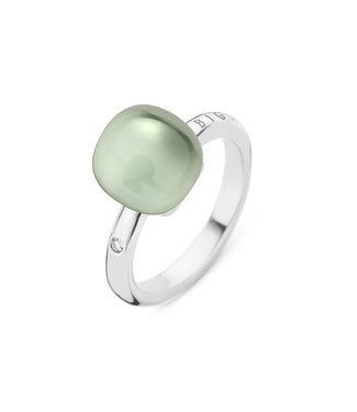 Bigli ring Mini Sweety Prasiolite with Mother of Pearl 20R88Wgamp