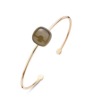 Bigli armband Mini Sweety - Rookkwarts met parelmoer 20A28Rsqmp