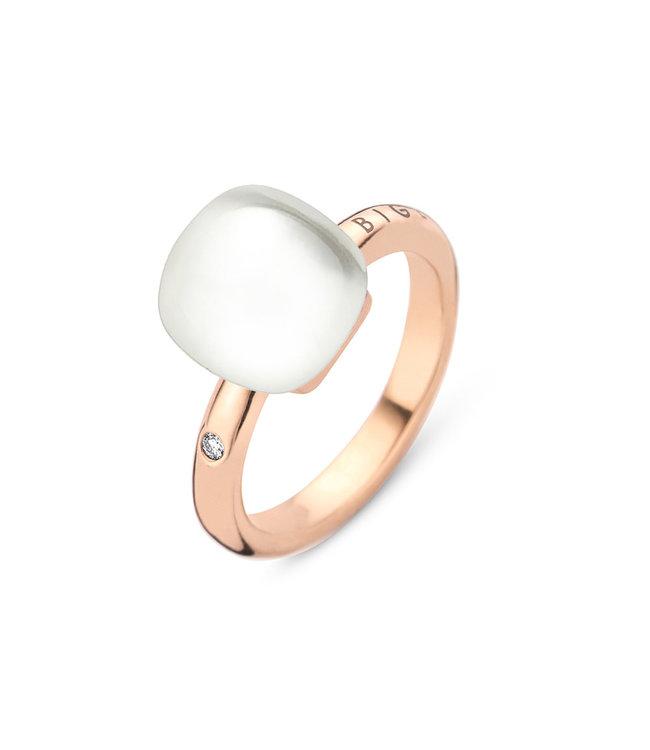 Bigli ring Mini Sweety - Bergkristal met parelmoer 20R88Rcrmp