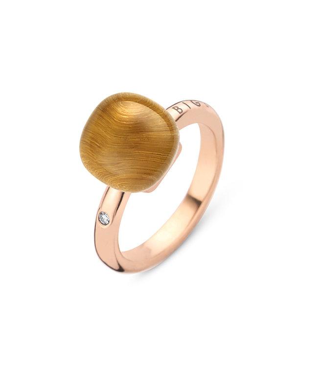 Bigli ring Mini Sweety - Bergkristal met tijgeroog 20R88Rcrtige
