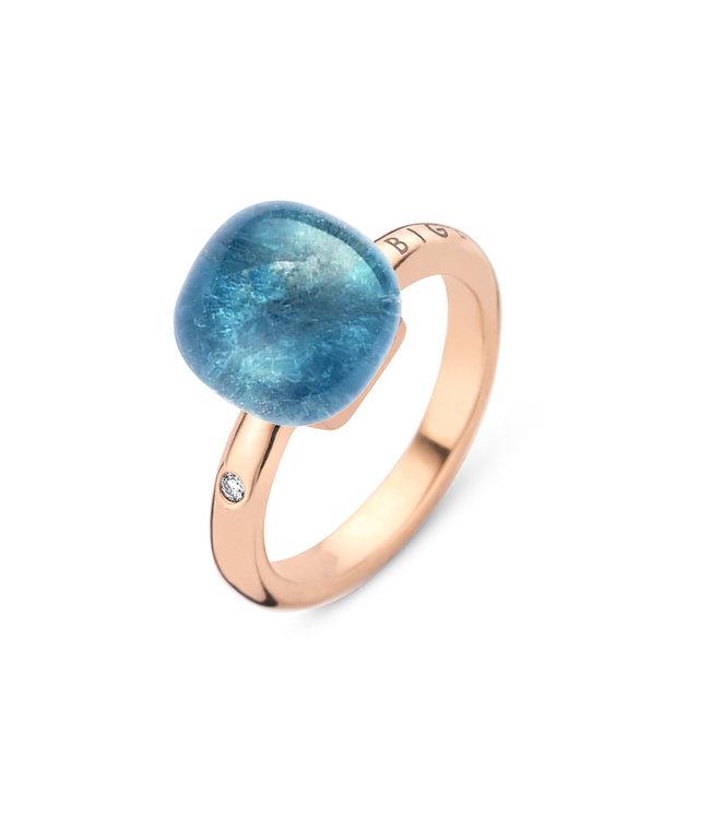 Bigli ring Mini Sweety - Bergkristal met donkere apatiet 20R88RCRAPATIT-D