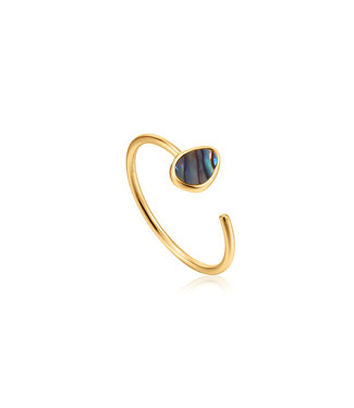 Ania Haie Turning Tides - Tidal Abalone Adjustable ring gold R027-02G