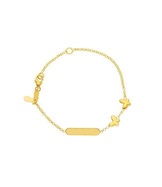 Willems Creations 18kt armband Identitei Vlinder 131195