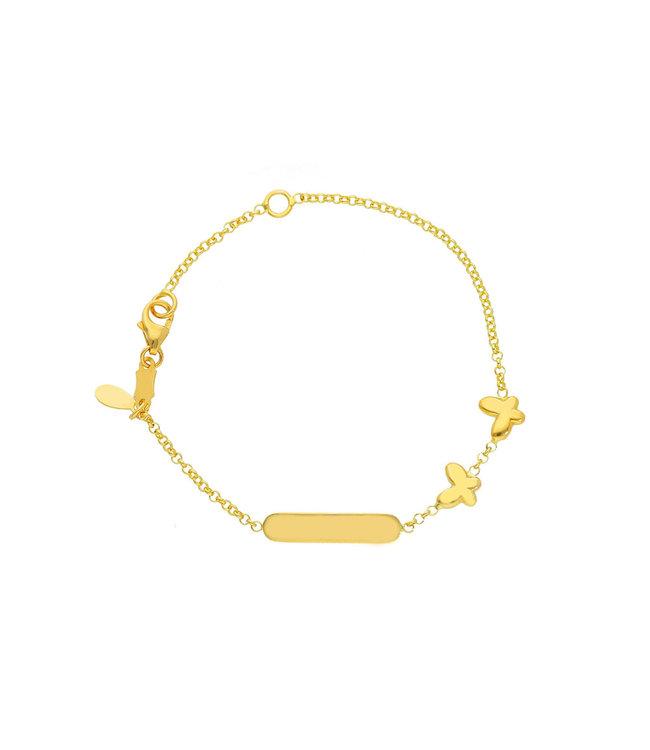 Willems Creations 18kt armband Identiteit Vlinder 131195