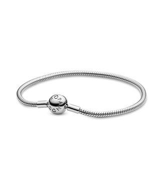 Pandora Snake chain silver bracelet with round clasp 590728