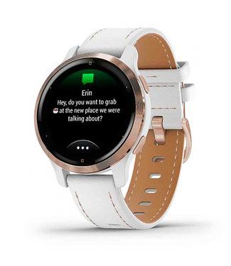 Garmin Venu 2S, GPS, Wi-Fi, rose-gold + leather 010-02429-23