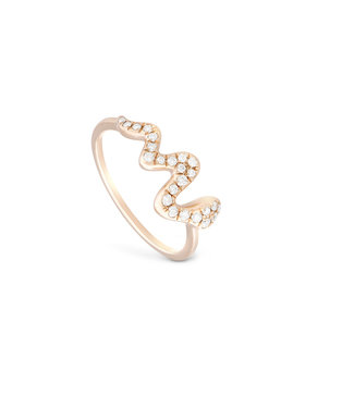 Willems Creations ring 18kt roosgoud R8206AB5