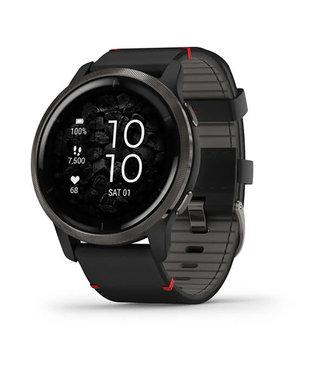 Garmin Venu 2, GPS, Wi-Fi, black + slate leather 010-02430-21