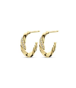 Diamanti Per Tutti Serendipity hoop earrings gold M1771-3S4-P01