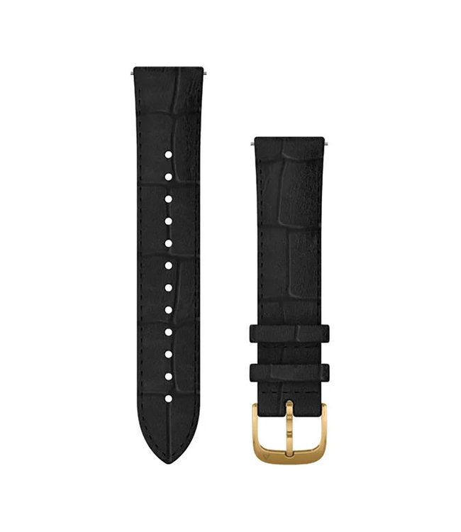 Garmin Vivomove Luxe Quick Release 20 mm band, Leather, Gold, black 010-12924-22