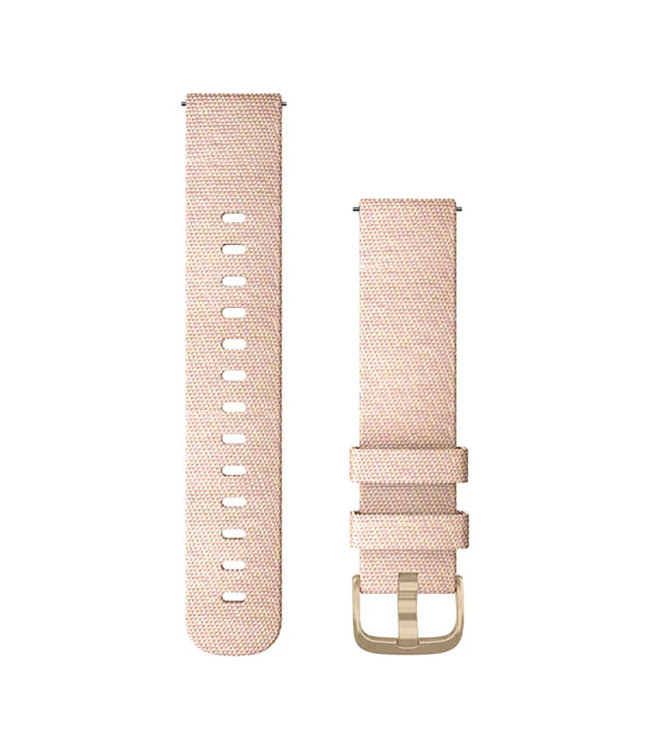 Garmin Vivomove Style Quick release 20mm, Fabric light gold, blush pink 010-12924-12