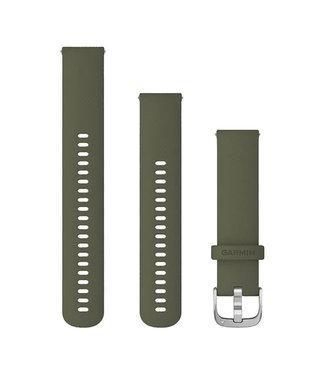 Garmin Vivomove Style Quick release 20mm, silicone, silver/moss 010-12924-11