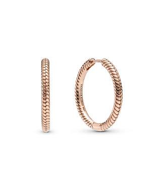 Pandora Charm hoop earrings rose 289532C00