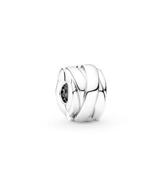 Pandora Polished Ribbons Clip 799502C00