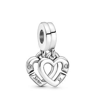 Pandora Linked Sister Hearts Split 799538C01
