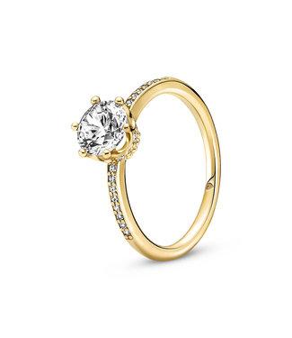 Pandora Sparkling Crown Solitaire ring shine 168289C01