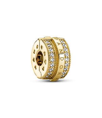 Pandora Sparkling Pavé Lines & Logo clip shine 769042C01